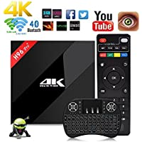 Aoxun TV Box 3G+32G Android 7.1 Intelligent set-top box H96 Pro Plus 64 Bits ROM with a Wireless Keyboard wifi smart set-top boxes Bluetooth 4.1 and True 4K Playing