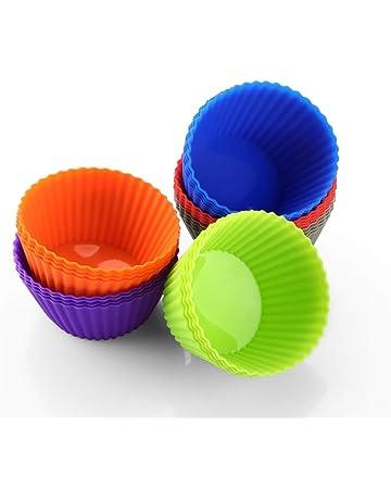 Zanmini Moldes individuales para magdalenas, moldes de silicona (24pcs) capsulas para cupcakes magdalenas
