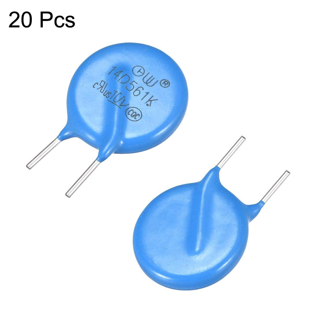 uxcell 20Pcs Voltage Dependent Resistors AC 350V 14D561K L5 Radial Lead Disc Varistors