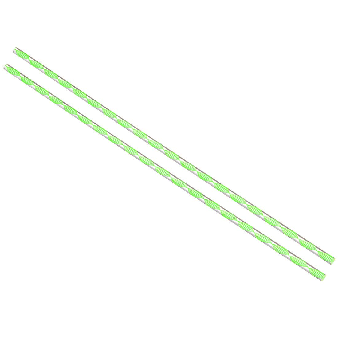 uxcell Acrylic Round Rod,3//8 inch Diameter 20 inch Length,Spiral Green Line,Solid Plxi Glass Plastic Lucite PMMA Bar Stick 2pcs