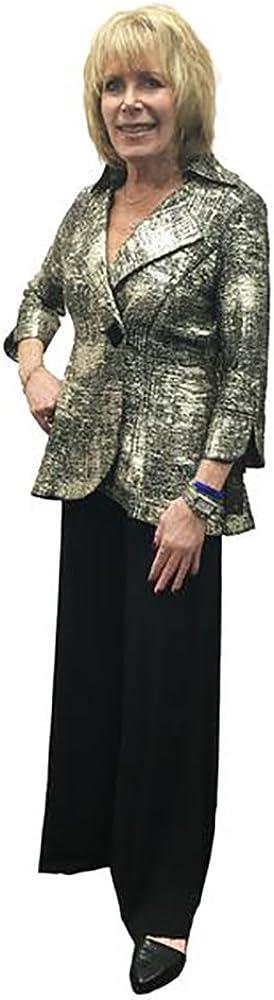 2966J-GLD IC Collection Designer Jacket In Gold and Black