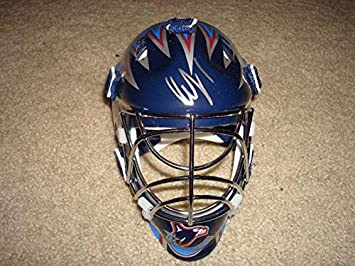 3e9164baa Amazon.com  Roberto Luongo Signed Canucks Mini Goalie Mask Auto. -  Autographed NHL Mini Helmets  Sports Collectibles
