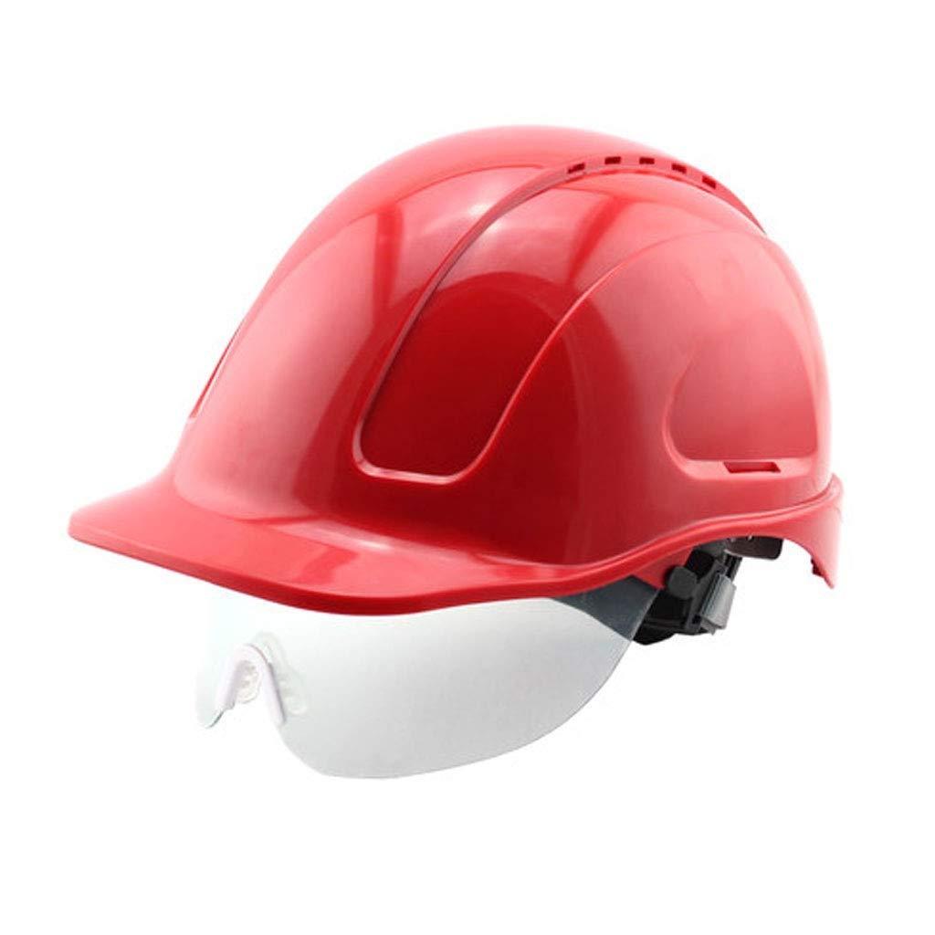 Casco de seguridad Casco industrial con gafas de seguridad ...