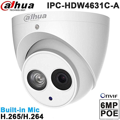 Dahua Ip Camera Ipc-Hdw4631C-A 2.8Mm Poe Dom Security Camera 6Mp Super Hd 3072X2048 With Ir 30M Onvifbuilt-In Micro Upgrade Model Of 4Mp Camera International Version by teaker
