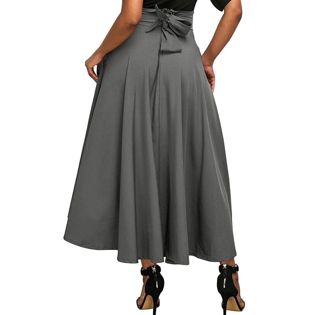 28b81201f0 Libeauty Falda de Mujer Falda Plisada de Cintura Alta Bolsillo para ...