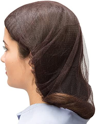 """Shield Safety Black Nylon Hairnet Size 24/"""" Cover Hair for Food Industry 400 pcs"""