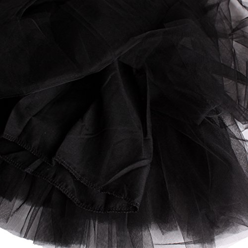 bsq01 Pettiskirt Noir Filles Andux Tutu Jupe Zone Ballet Ss Princesse FORqwx8