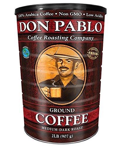 2LB Don Pablo Signature Blend – Drip Ground Coffee – Medium-Dark Roast- Collectible Tin Can – Low Acidity -2 Pound (2 lb…