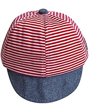 Summer Hats Cute Casual Striped Soft Eaves Baseball Cap Baby Boy Girl Sun Hat