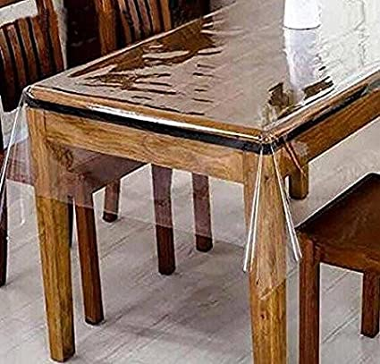 GorgeousHome CLEAR/TRANSPARENT TABLECLOTH HEAVY DUTY KITCHEN TABLE TOP COVER WATER PROOF HARD PLASTIC VINYL & Amazon.com: GorgeousHome CLEAR/TRANSPARENT TABLECLOTH HEAVY DUTY ...