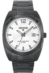 Hector Men's 667062 Silver Dial Black PVD Bracelet Date Watch