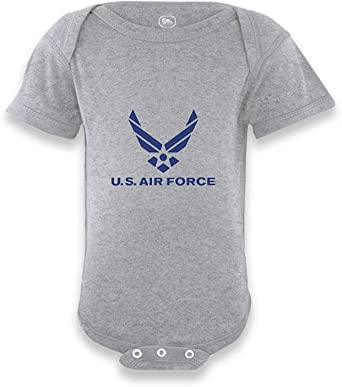 Cute Rascals US Air Force Short Sleeve Boys-Girls Cotton Baby Bodysuit One Piece