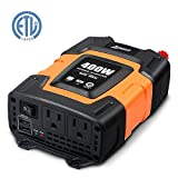 Ampeak 400W Car Power Inverter DC 12V to 110V AC Converter with 3.1A Dual USB Charger