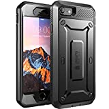 SUPCASE Full-Body Rugged Holster Case with Built-In Screen Protector for Apple iPhone 7/iPhone 8 - Black