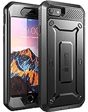 SUPCASE iPhone SE 2020 Hoesje, iPhone 8 Hoesje, iPhone 7 Hoesje met Schermbeschermer [Unicorn Beetle Pro] Rugged Case 360 graden voor iPhone SE 2020/ 8/ 7, Zwart