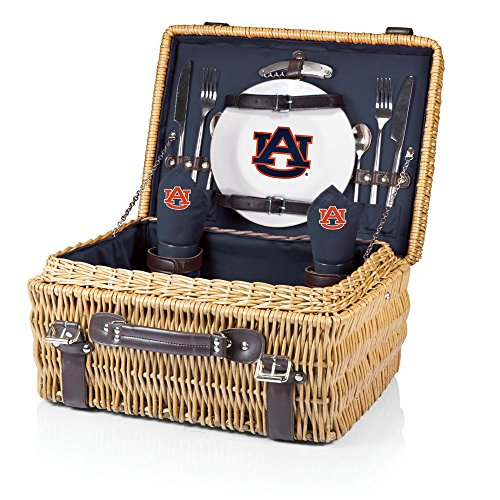 NCAA Auburn Tigers Champion Picnic Basket with Deluxe Service for Two, Navy