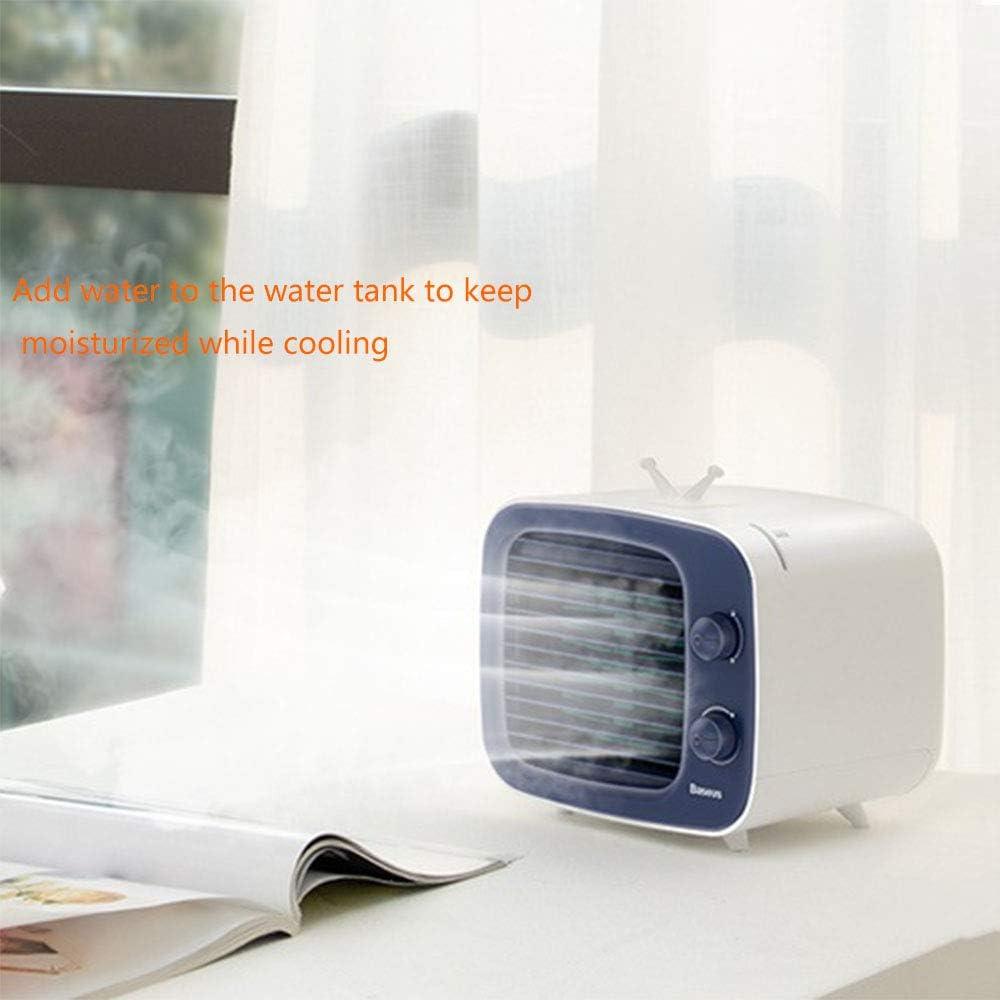 JLKJBH Mini Refrigerador Aire Acondicionado Ventilador De Escritorio USB PequeñO Ventilador Fresco PortáTil