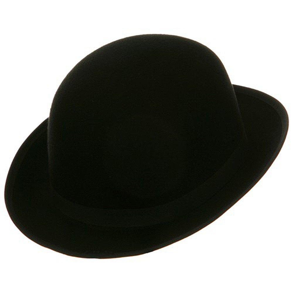 13b6307daa9c2 Black Blended Wool Derby Hat at Amazon Men s Clothing store  Bowler Hat