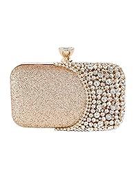 SUNSPOT Womens Crystal Evening Clutch Bag Wedding Purse Bridal Prom Handbag Party Bag