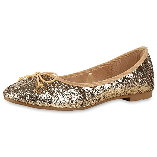 napoli-fashion - Bailarinas Mujer Gold Schleife