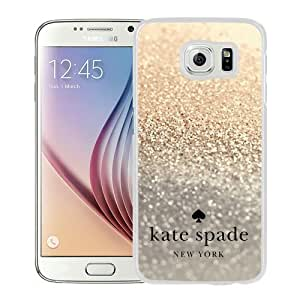 Personalized Design With Kate Spade 85 White Samsung Galaxy S6 G9200 Protective Cover Case