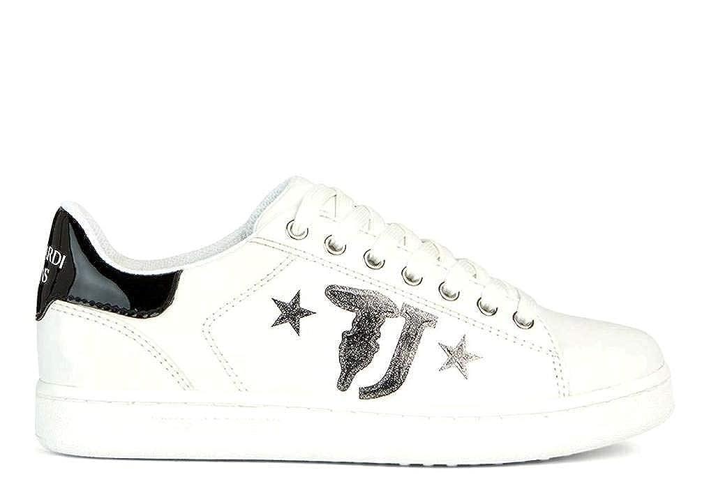 Trussardi Jeans 79A00391 weiß schwarz Frau Turnschuhe Sportschuh