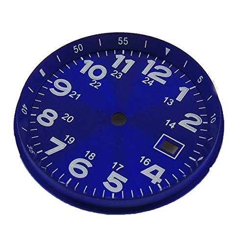 33MM Blue Sterile Watch Dial Luminous Marks Date Window Fit For ETA 2824 2836 MIYOTA 8215 Movement