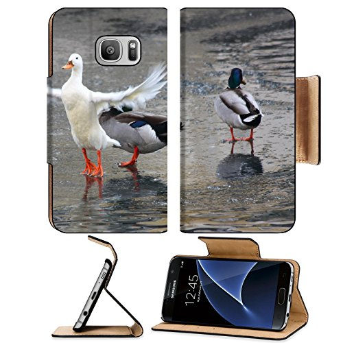 msd-premium-samsung-galaxy-s7-flip-pu-leather-wallet-case-image-id-10304628-couple-of-ducks-in-lake-