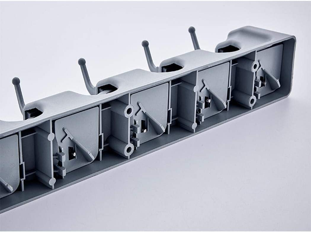 Kindsells Multifunctional Mop Broom Holder Rack with Hook Wall Mounted Organizer Rack for Bathroom Kitchen Garden