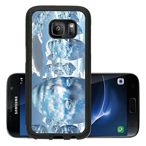Abstract Concept Halloween Costume (Liili Premium Samsung Galaxy S7 Aluminum Backplate Bumper Snap Case Repeating faces of clouds IMAGE ID 11799933)