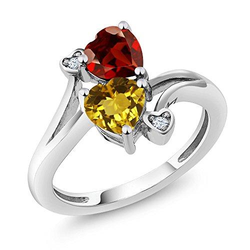 Heart Shape Garnet Ring - 6