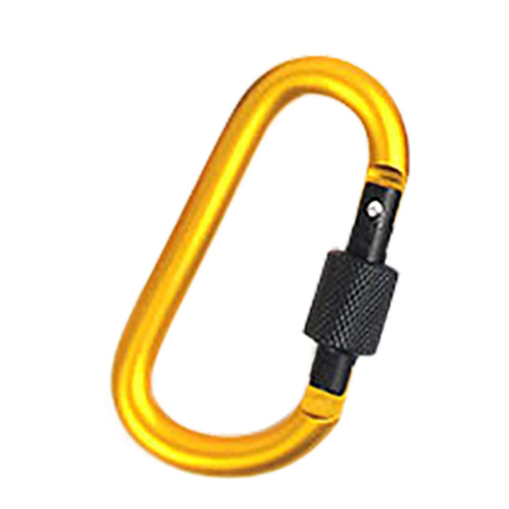 Smdoxi aluminum carabiner D-shaped buckle bag, keychain clip, spring button keychain buckle