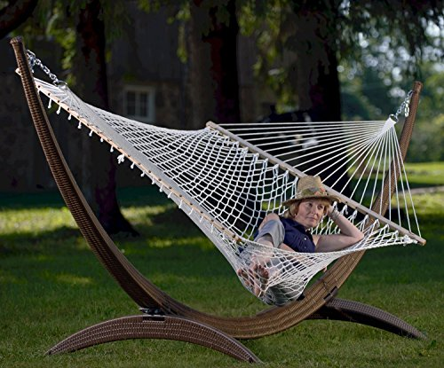 Eclipse Collection Polyester Rope Hammock - Double (White) by Eclipse Curtains