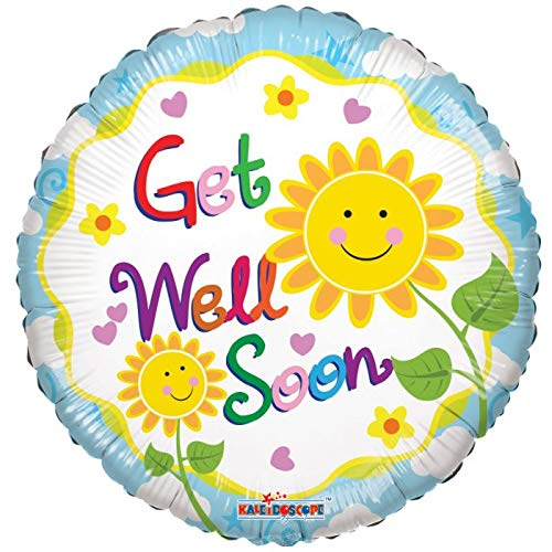 Get Well Soon Sunshine 18'' Mylar Balloon Get Well Soon Birthday Party Decorations Supplies