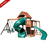 Outdoor Swing Set For Kids Wood Twist Complete Playcenter Secure Furniture Girls Boys Fun Play Games For Physical Activity And Exercise - Skroutz