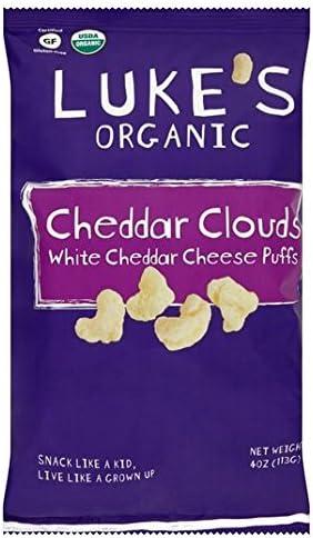 Lukes Organic Gluten Free Cheddar Cheese Puffs 142g