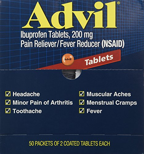 Advil Tablets Pain Reliever Refill 50 Two-pack for Box(2 Pack ) Tablets Pain Reliever Refill