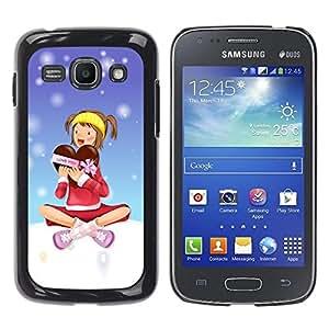 Be Good Phone Accessory // Dura Cáscara cubierta Protectora Caso Carcasa Funda de Protección para Samsung Galaxy Ace 3 GT-S7270 GT-S7275 GT-S7272 // Christmas Girl