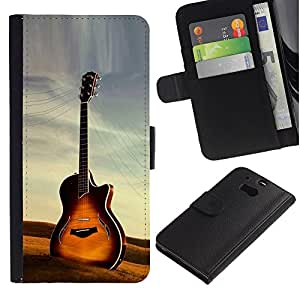 All Phone Most Case / Oferta Especial Cáscara Funda de cuero Monedero Cubierta de proteccion Caso / Wallet Case for HTC One M8 // Guitar