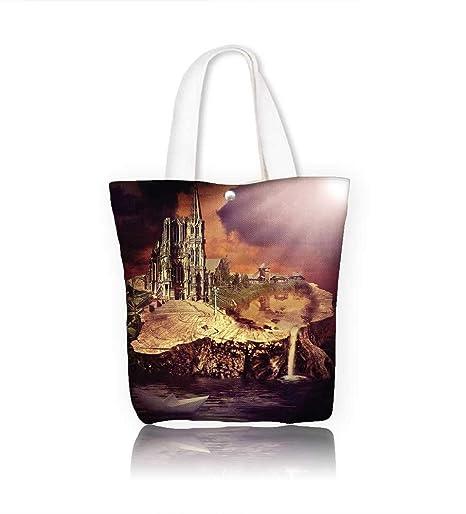 Amazon.com: Bolsas de playa de lona Eiffel Tower France ...