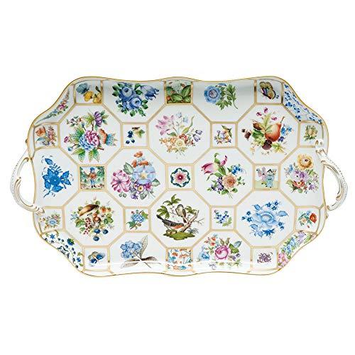 (Herend Brocade Plateau Porcelain China Platter Reserve)