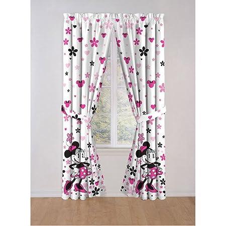 Disney Minnie Mouse Window Panels, Curtains, Drapes: Amazon.co.uk ...