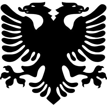 Albanian eagle vinyl decal sticker bumper car truck window 6 wide gloss black color