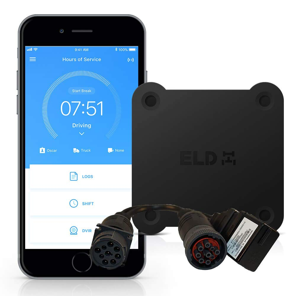 Trucker Path ELD - Electronic Logging Device, HOS, GPS Tracking, IFTA, ELD Compliance, 9-pin by Trucker Path ELD