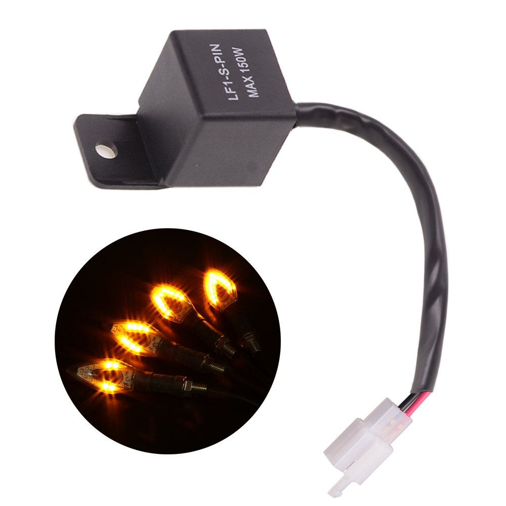 Goodway Universal 2-Pin Electronic LED Flasher Relay FIX Motorcycle Turn Signal Bulbs Hyper Flash Goodway Vehicle