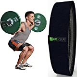 Hip Resistance Circle Band – Black Medium Resistant Band with Non Slip Grippy Elastic Loop – Strong Thigh Abductor for Squat Workouts – Legs and Butt Exerciser for Men and Women – Booty Toner