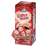 Coffee-mate 42498CT Liquid Coffee Creamer Cinnamon Vanilla 0.375 oz Mini Cups 50/Bx 4 Box/Carton