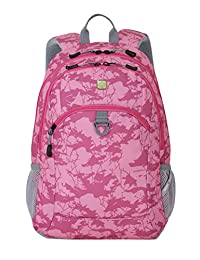 SwissGear SA6621 Pink Camoflage Print Computer Backpack - Fits Most 15 Inch Laptops and Tablets