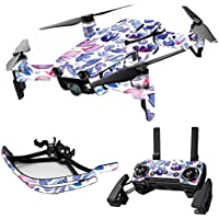 MightySkins Skin for DJI Mavic Air Drone - Blue Petals   Max Combo Protective, Durable, and Unique Vinyl Decal wrap cover   Easy To Apply, Remove, and Change Styles   Made in the USA