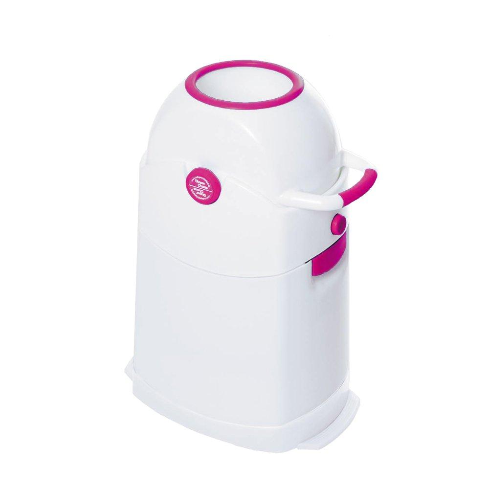 Vital Innovations 04002-08 - Cubo para pañales sin sistema de bolsas (28 x 56 x 40 cm, capacidad: 90 pañales), color blanco y ro04002-08sa